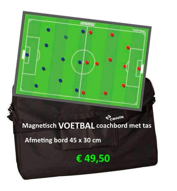 Magnetisch Voetbal coachbord met coachtas