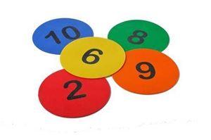 Afbeelding van 10 Rubberen markers genummerd