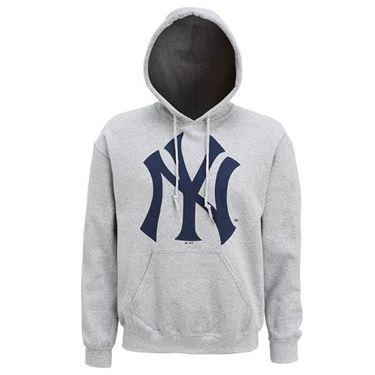 Afbeelding van New York Yankees hoodie met groot logo Grijs