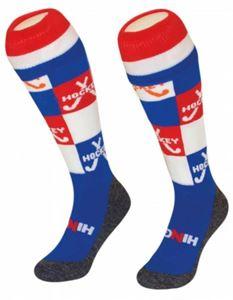 Afbeelding van Funkous I Love Hockey Block Stick rood wit blauw