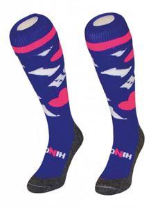 Afbeelding van Funkous I Love Hockey Blauw met Roze hart