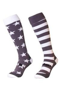 Afbeelding van Funkous Stars and Stripes Mixed Grijs Wit