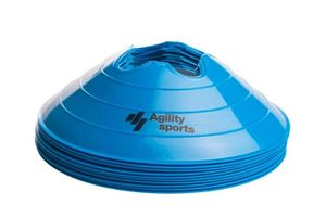 Afbeelding van Agility Sports Markeringshoedjes blauw 10 stuks