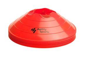 Afbeelding van Agility Sports Markeringshoedjes Rood 10 stuks