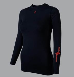Afbeelding van Thundersports Unisex Thermoshirt lange mouw zwart