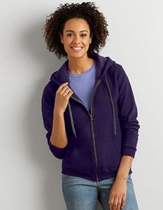 Gildan Heavy Blend Ladies Vintage Full Zip Hooded Sweatshirt