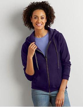 Gildan Heavy Blend Ladies Vintage Full Zip Hooded Sweatshirt