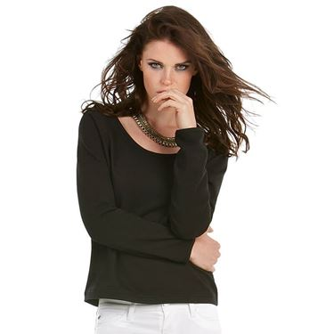 Picture of B&C Eden Dames Sweater met brede hals