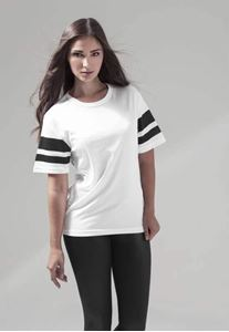 Ladies Mesh Strip White black