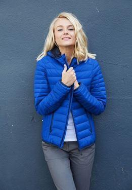 K6111 - Ladies' lightweight hooded padded jacket