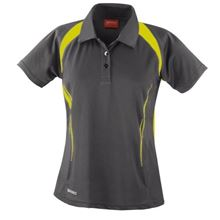Picture of Dames team polo Spirit Grey / Lime