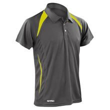 Picture of Heren team polo Spirit Grey Lime