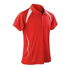 Picture of Heren team polo Spirit Red White