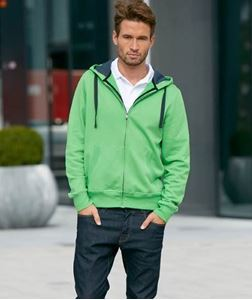 Men´S Contrast Hooded Jacket James Nicholson