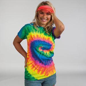Afbeelding van Colortone  Rainbow tie-dye shirt maat XL