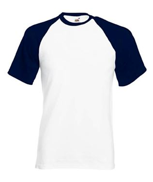 Picture of Baseball T White - Deep Navy maat L
