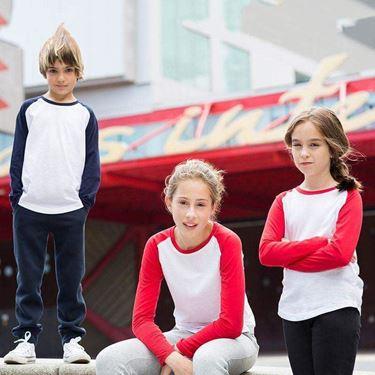 Kids Long Sleeved Baseball T