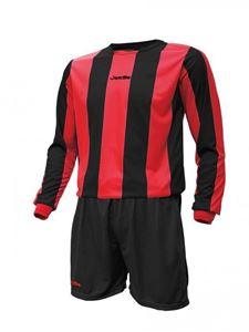 Afbeelding van Voetbal set Mercury lange mouw Rood Zwart