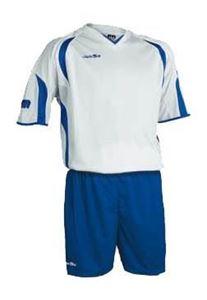 Afbeelding van voetbaltenue wit-blauw