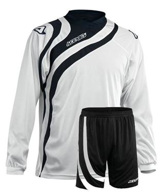 Voetbal Team Set Alkman Lange Mouw Wit Zwart
