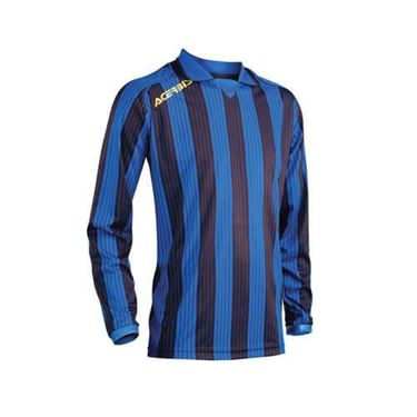 Team Shirt Vertical Lange Mouw Blauw Zwart
