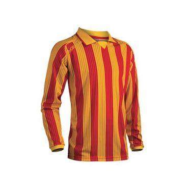 Team Shirt Vertical Lange Mouw Geel Rood