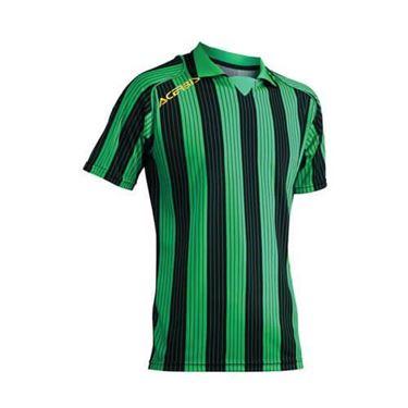 Team Shirt Vertical Korte Mouw Groen Zwart