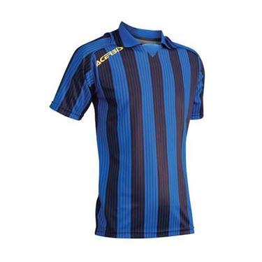 Team Shirt Vertical Korte Mouw Blauw Zwart