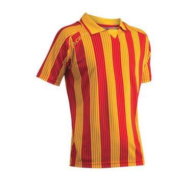 Team Shirt Vertical Korte Mouw Geel Rood