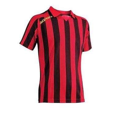 Team Shirt Vertical Korte Mouw Rood Zwart