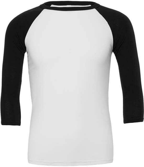 zwart t shirt driekwart mouw