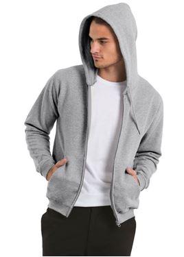 B&C 50/50 Unisex Full Zip Hooded Sweatshirt