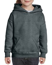 I8500B Heavy Blend™ Youth Hooded Sweatshirt Dark Heather