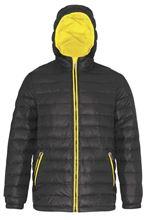 Padded Jacket Van 2786 Black / Bright Yellow