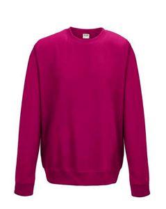 AWDIS Sweatshirt Unisex Hot Pink