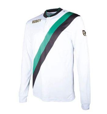 Robey Anniversary LS Wit-Groen-Zwart
