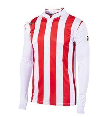Robey Winner Voetbalshirt Lange Mouw Rood-Wit