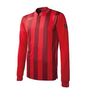Robey Winner Voetbalshirt Lange Mouw Rood Zwart