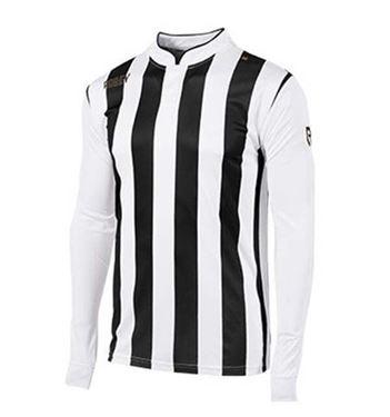 Robey Winner Voetbalshirt Lange Mouw Zwart-Wit