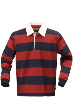 Picture of Lakeport Rugby shirt Rood-Blauw maat L