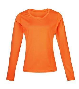 Picture of Women's Rhino base layer long sleeve Orange maat 38