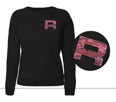 Rofy Casual Dames Sweater Black Camo
