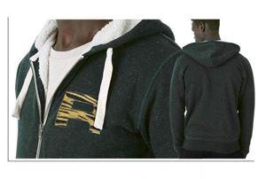 Robuuste groene Sherpa sweater