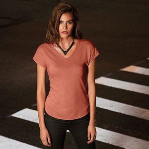 Anvil Women´S Tri-Blend V-Neck Tee
