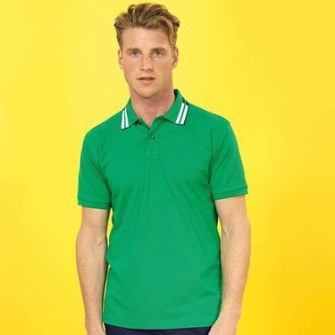 Asquith & Fox Two Colour Tipped Polo