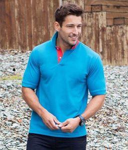 Henbury Contrast 65/35 Piqué Polo Shirt