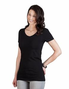 Womens Slim Fit V-Neck-T Long