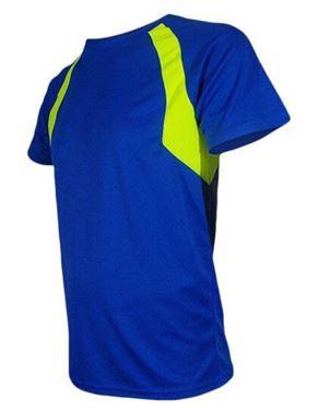 Sneldrogend sportshirt met mesh ventilatiezones in contrastkleur