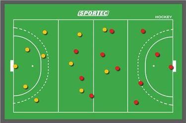 Sportec Magnetisch Coachbord Hockey 60 X 45 Cm