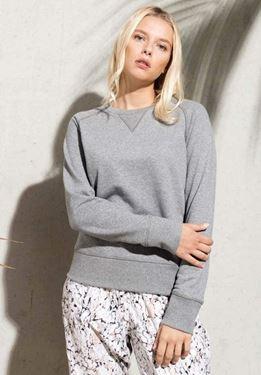 Dames Sweater BIO Ronde Hals Raglan Mouwen